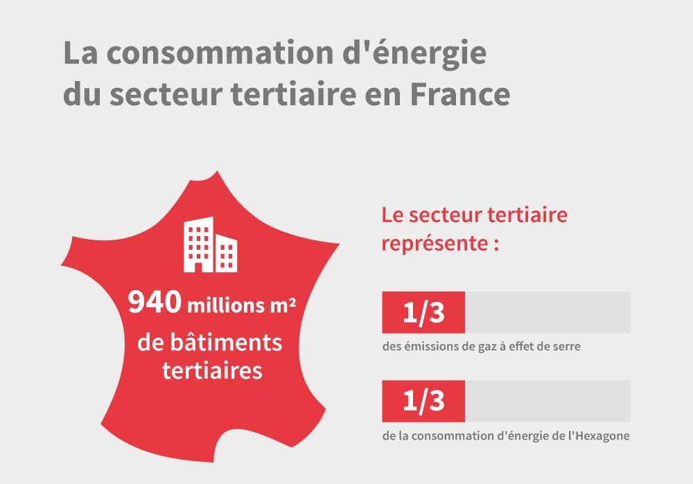 Infographie Consommation d'énergie du secteur tertiaire