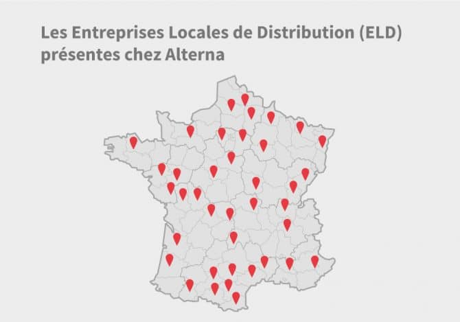 Carte de France avec ELD du fournisseur Alterna