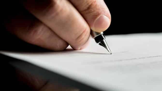 lettre résiliation edf